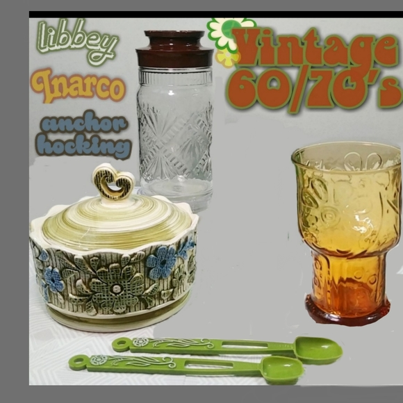 vintage 1960s/70's retro kitchen bundle.